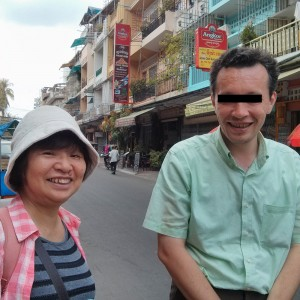 カンボジアを発つおかんとAさん