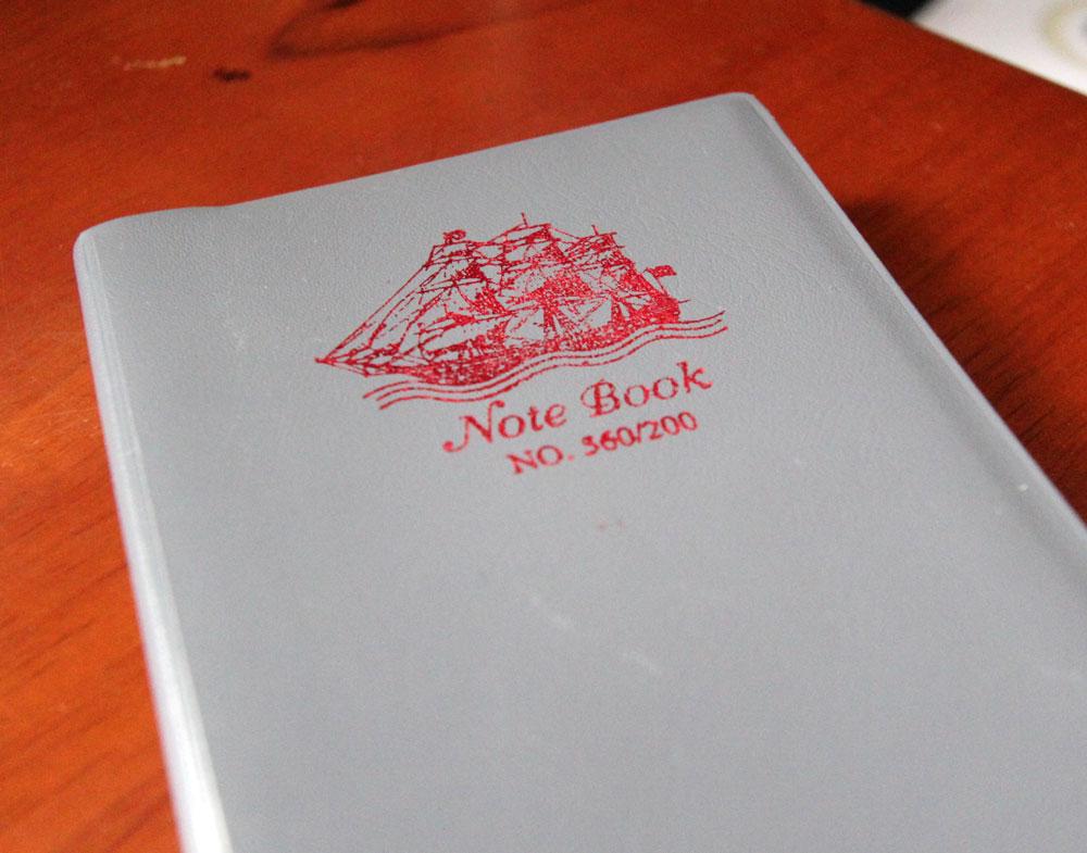 カンボジアで買ったノート。1500リエル。