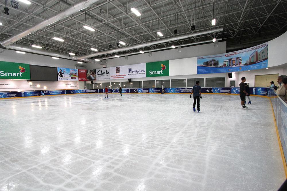 AEONにオープンしたスケートリンク