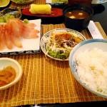 タイの刺身定食(8ドル)