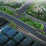 トゥクトゥクにできる立体交差の完成予想図。