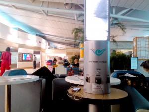 仁川空港の休憩スペース。結構静かな場所なのでゆっくりできます。