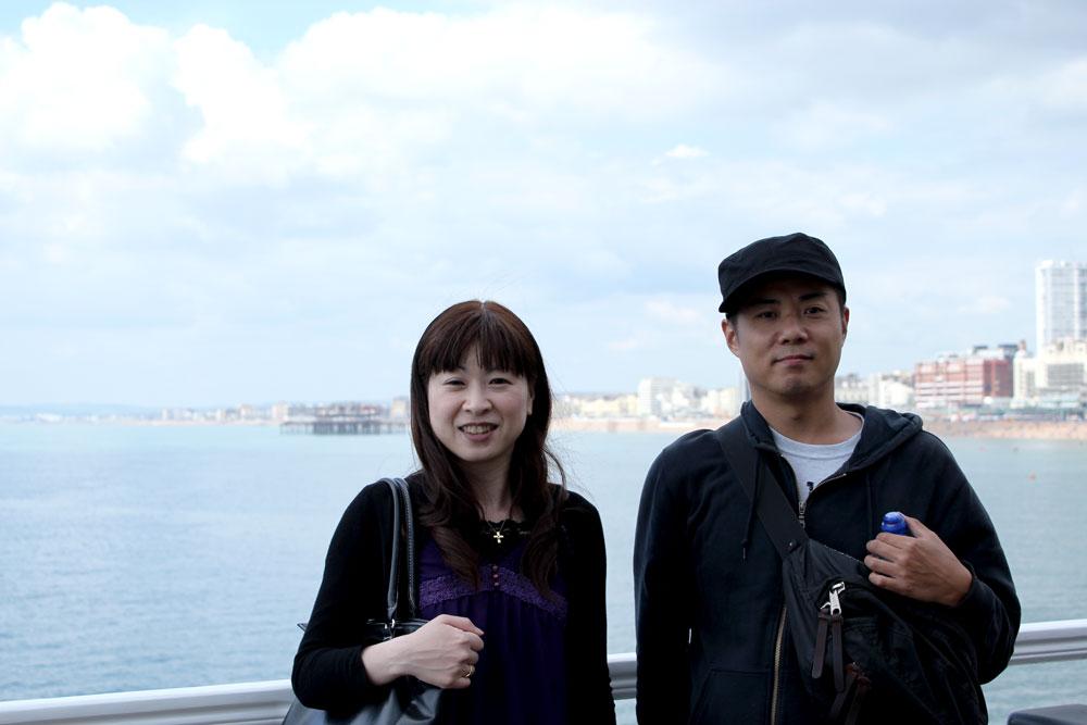 Miwaさんの思い出の地・ブライトンにて。