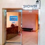4階にあるシャワールーム。