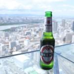 40階からの眺めは最高。ビールも美味いです。
