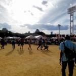 大阪城公園の広場で行われたイベント