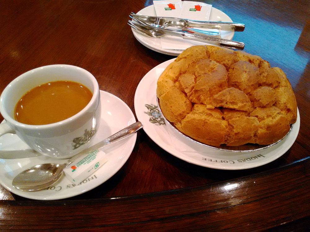 京都の老舗コーヒーショップのビッグシュークリームに唖然 | 人生は宇宙だ!