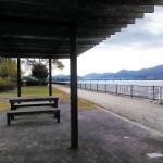 琵琶湖岸の公園。