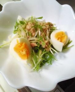 ゆで卵を添えて完成