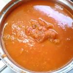 作ったトマトソース