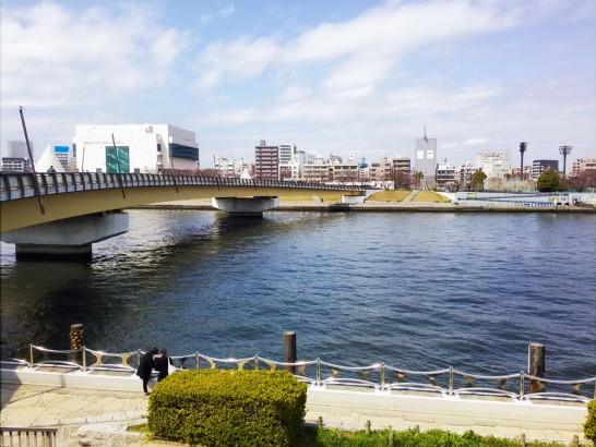 長命寺の裏には隅田川