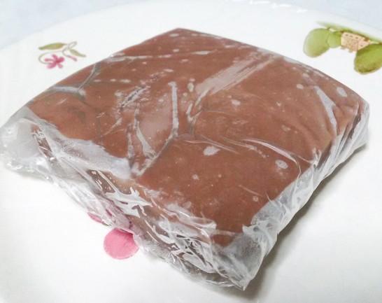 ラップに包み冷凍庫で保存