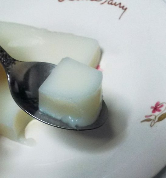 牛乳パック杏仁豆腐