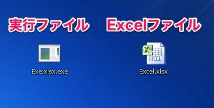 拡張子を表示する設定時のファイルの見え方