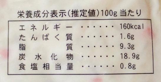 業務スーパーのポテトサラダの栄養成分表示