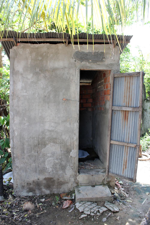 屋外に設置されたトイレ