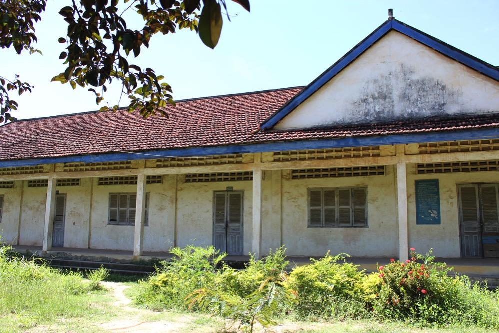 カンボジアの一般的な校舎
