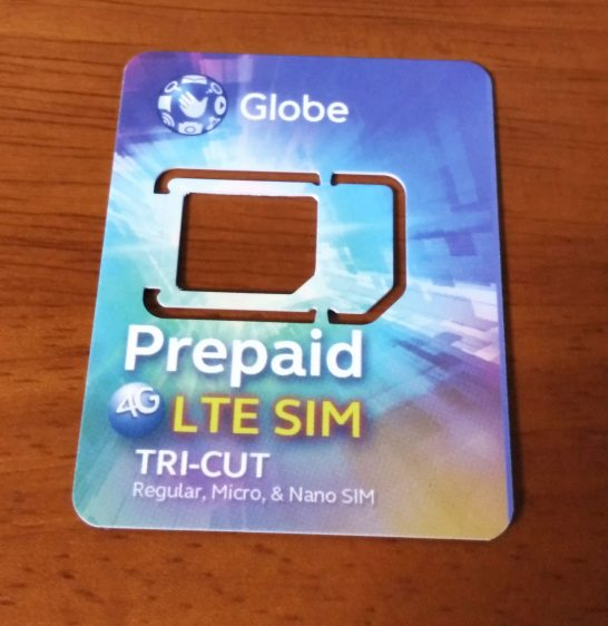GlobeのSIMカード