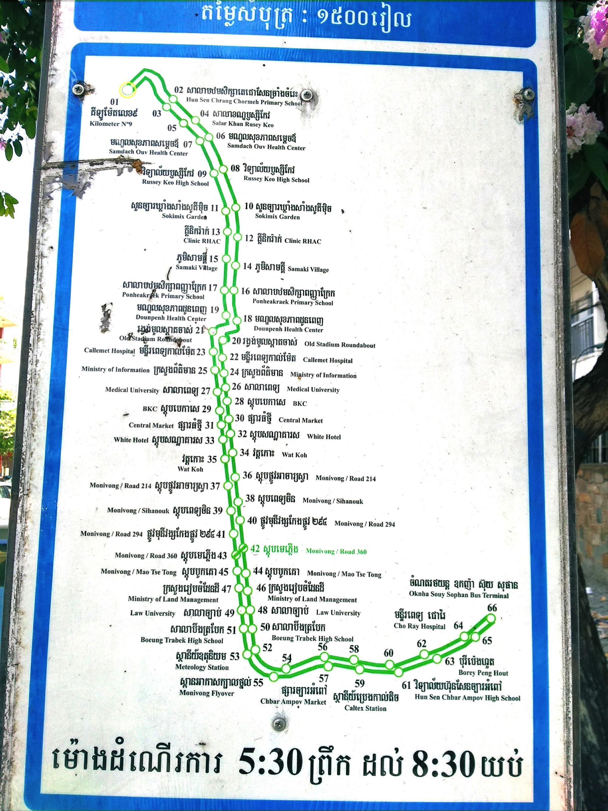 プノンペン市バスLINE1