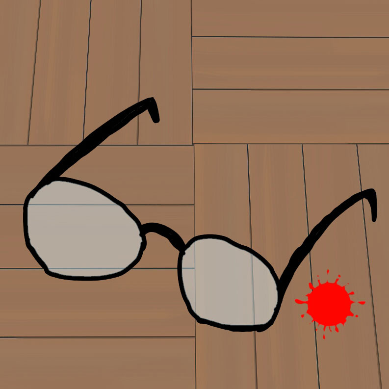 飛んできた眼鏡