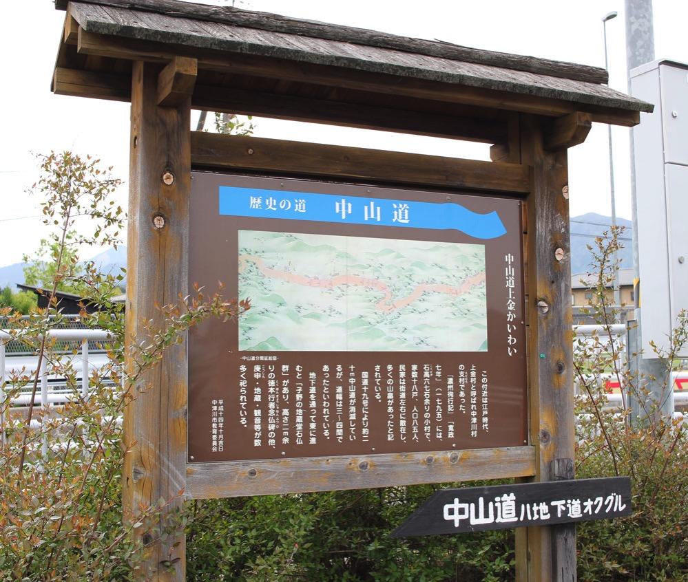 中山道の案内板