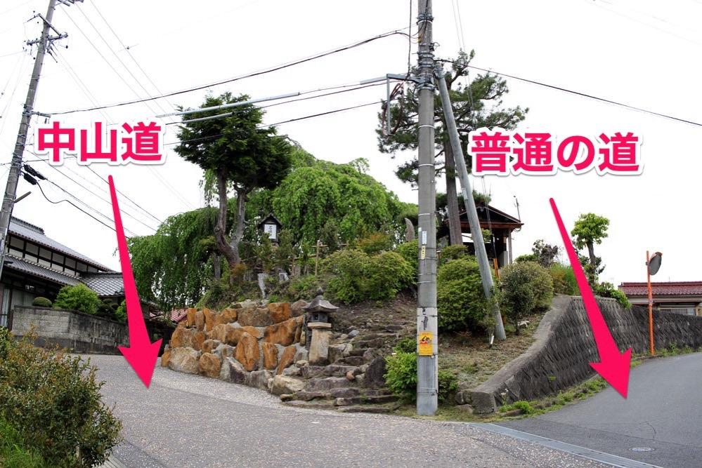 中山道と普通の道の違い