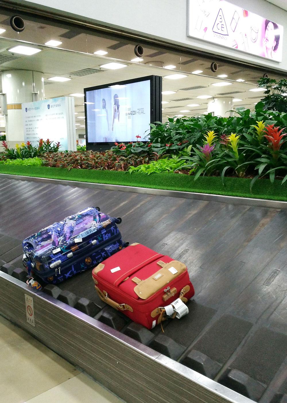 金浦国際空港の手荷物受取所