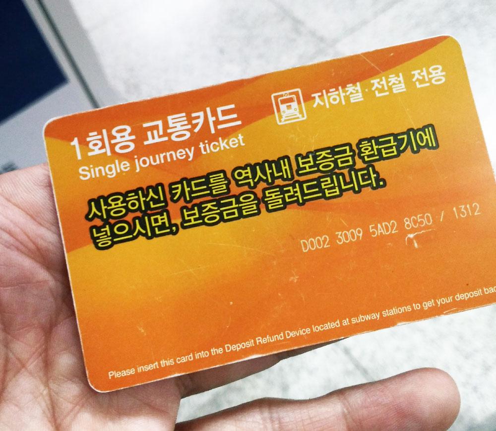 一回用交通カード