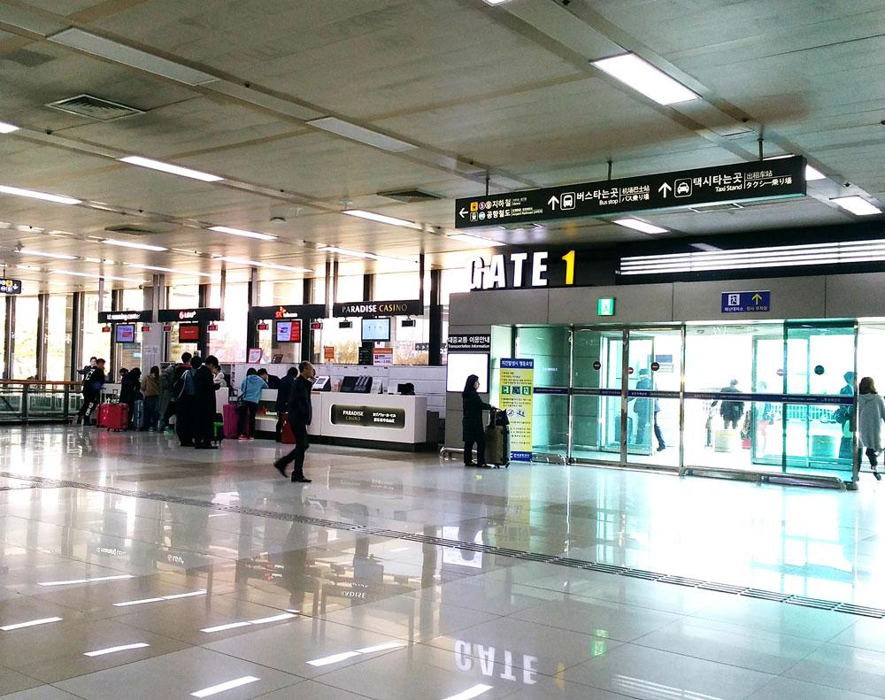 金浦国際空港のロビー