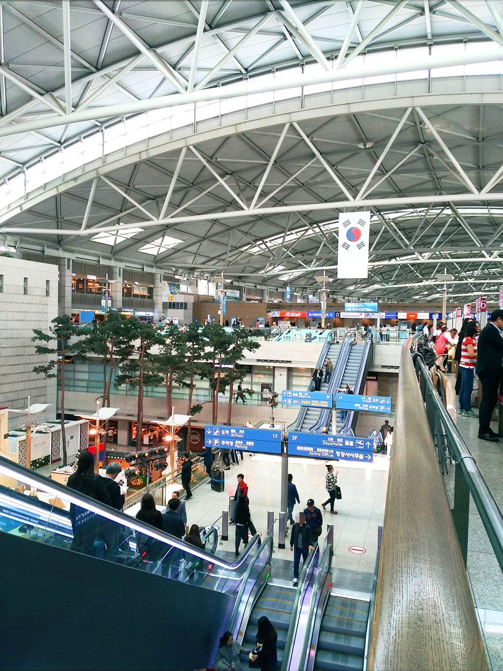 仁川国際空港の3階