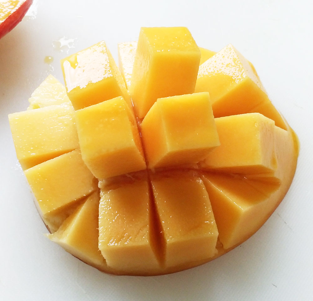 レストランで食べるようなきれいなマンゴー