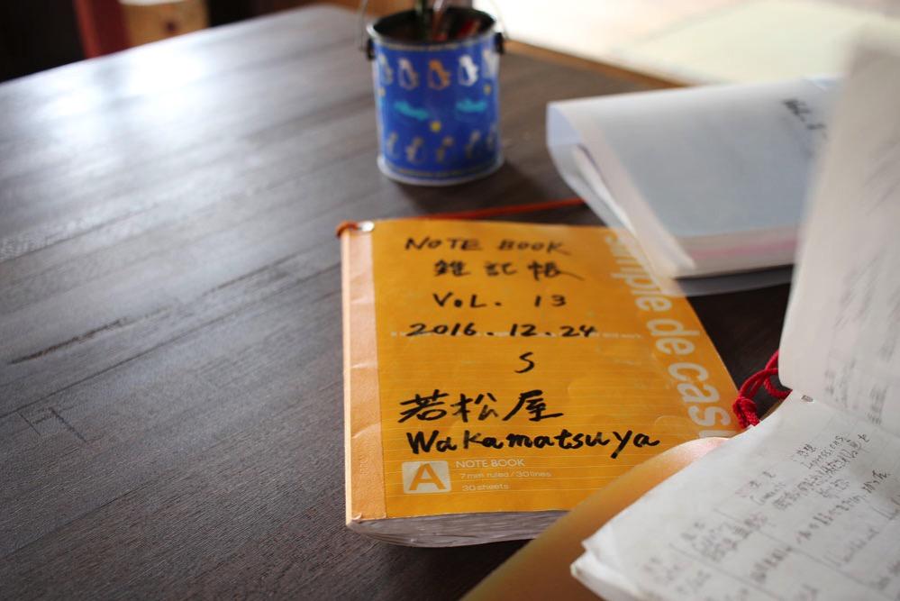 旅行者が書き込むノート