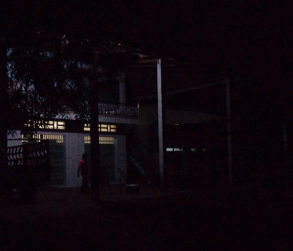 真っ暗なスヴァイリエンの夜