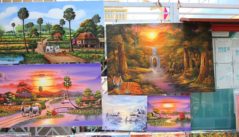 カンボジアの絵