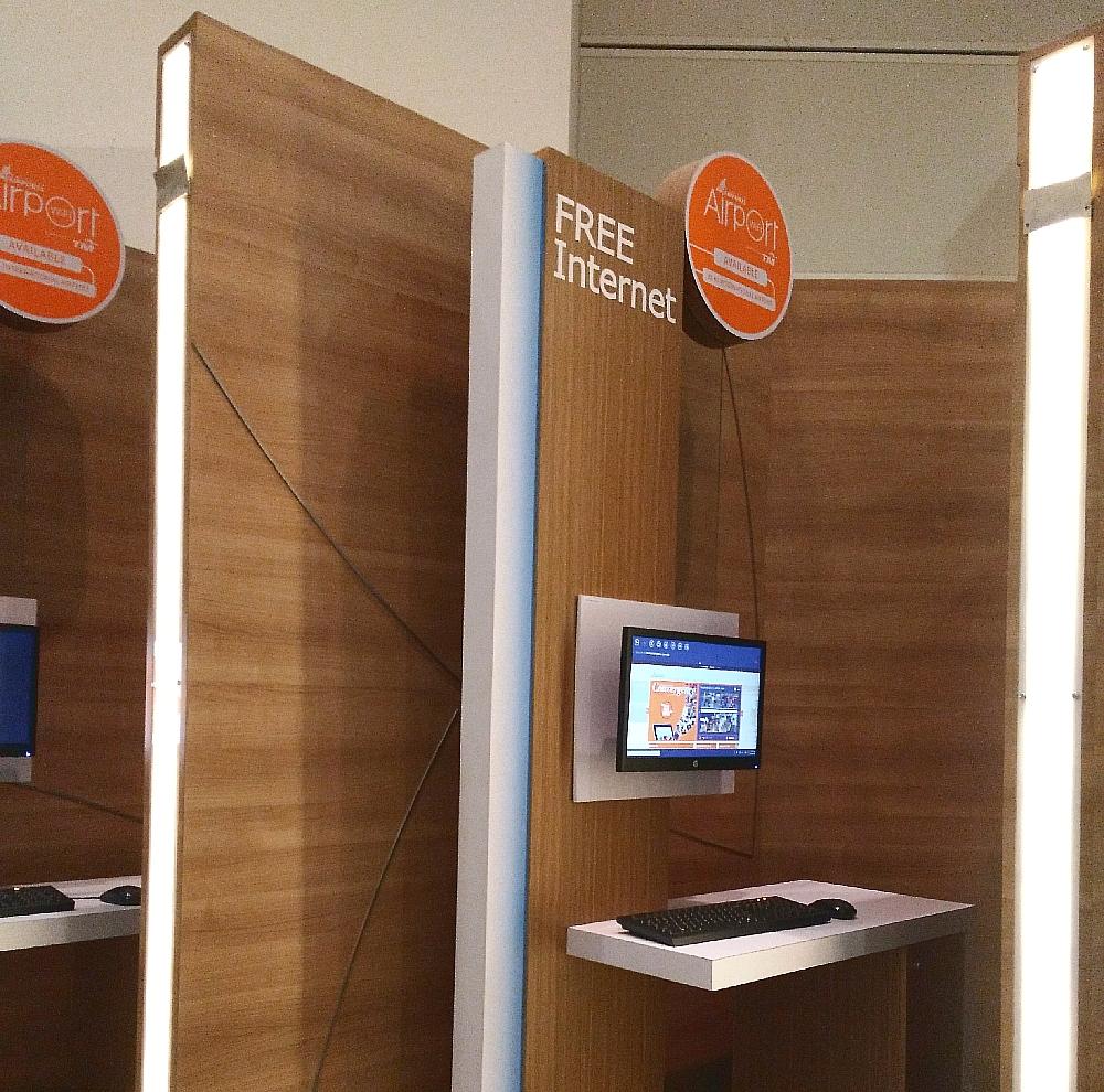 クアラルンプール国際空港にあるフリーインターネットPC