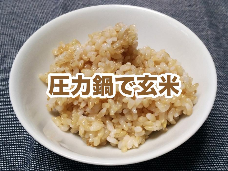 【加圧30分】圧力鍋で簡単に玄米を炊く方法