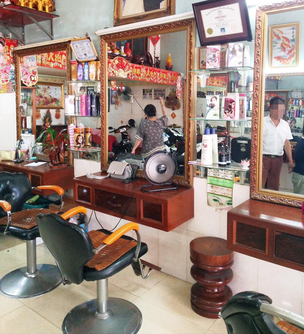 カンボジアの美容室