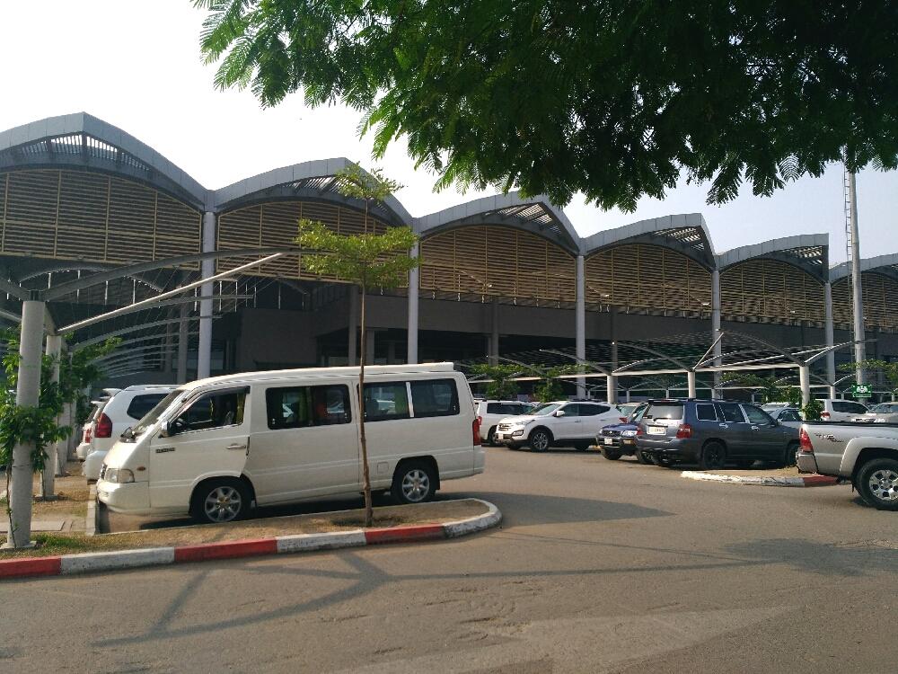 駐車場の出口付近