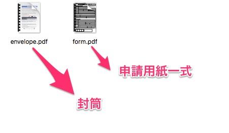 申請に必要な書類2種類
