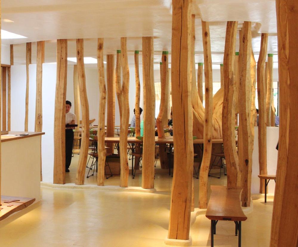 カステラショップに併設されたカフェ