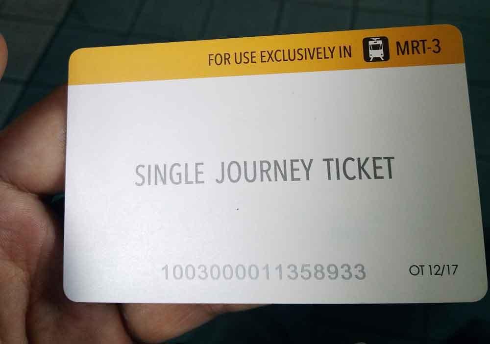 MRT-3の乗車券
