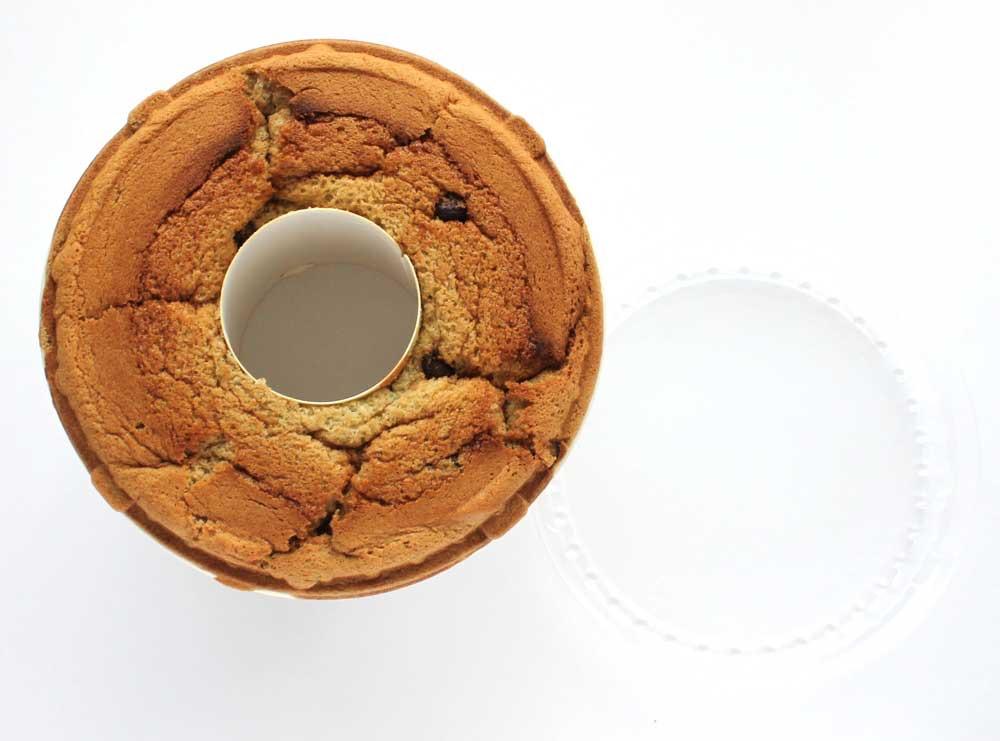ためちゃんの純米シフォンケーキ チョコミントを下から見たところ