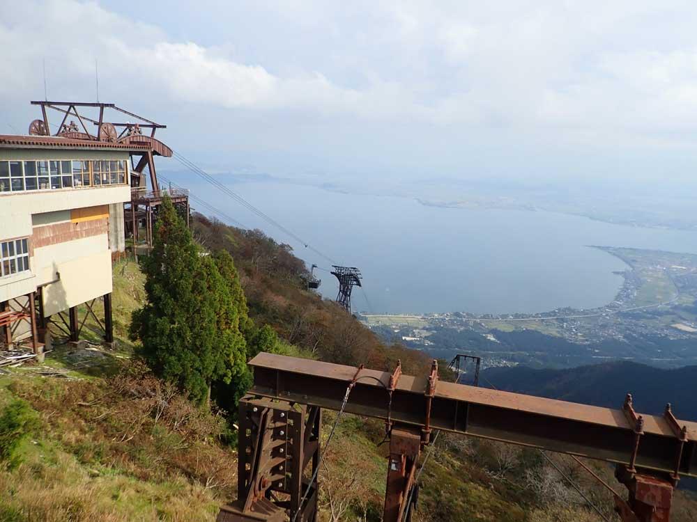 山頂駅から望むびわ湖