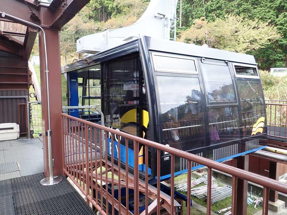 日本最速のびわ湖バレイのロープウェイ