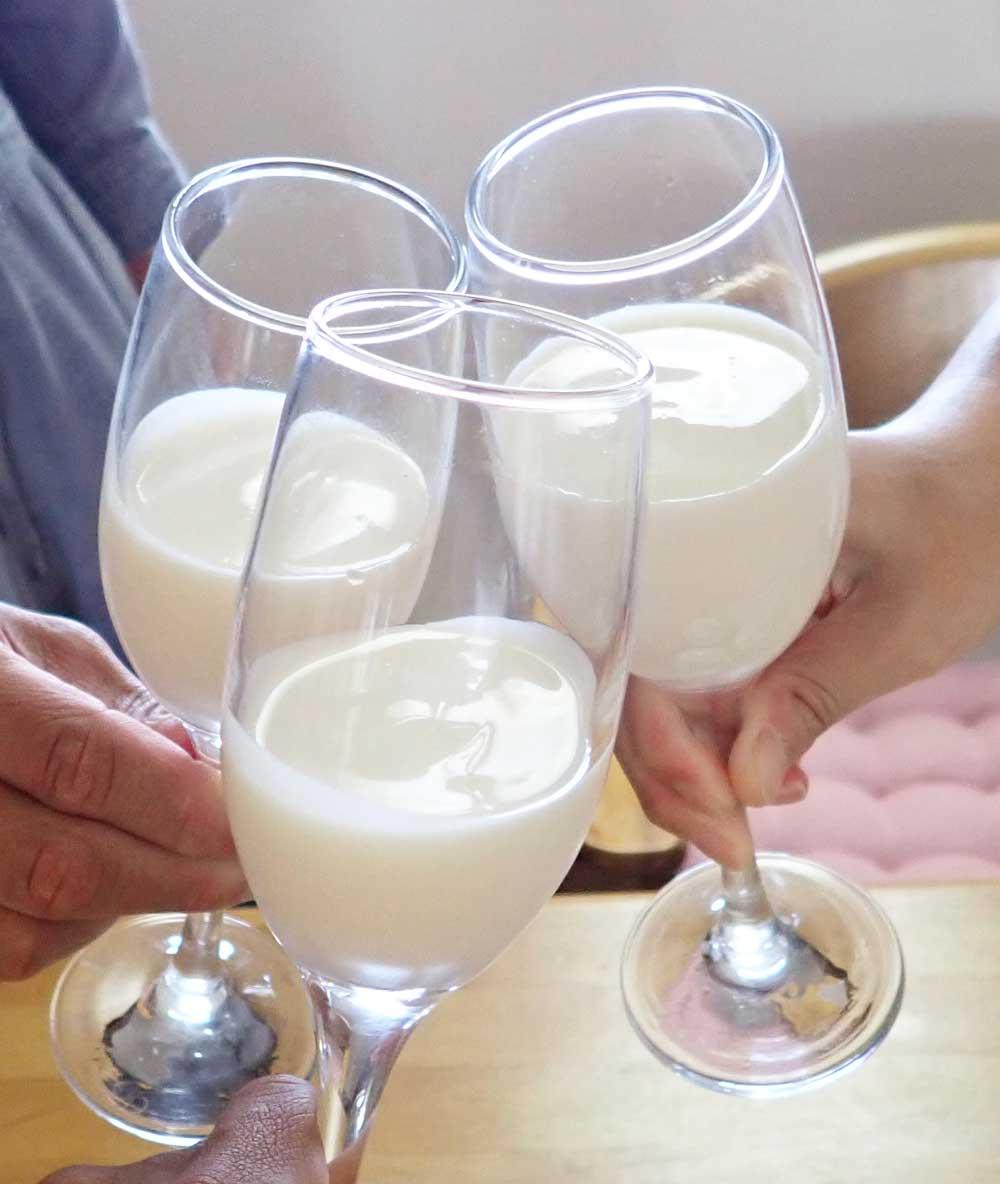 ヨーグルトで乾杯!