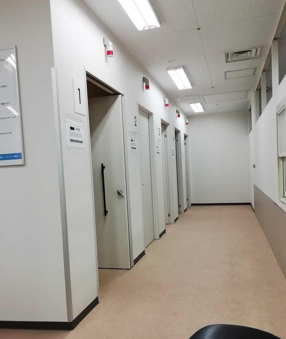 エアロプラザのシャワールーム