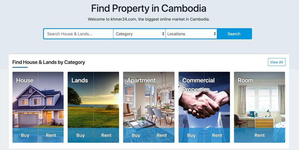 Khmer24で扱ってる物件