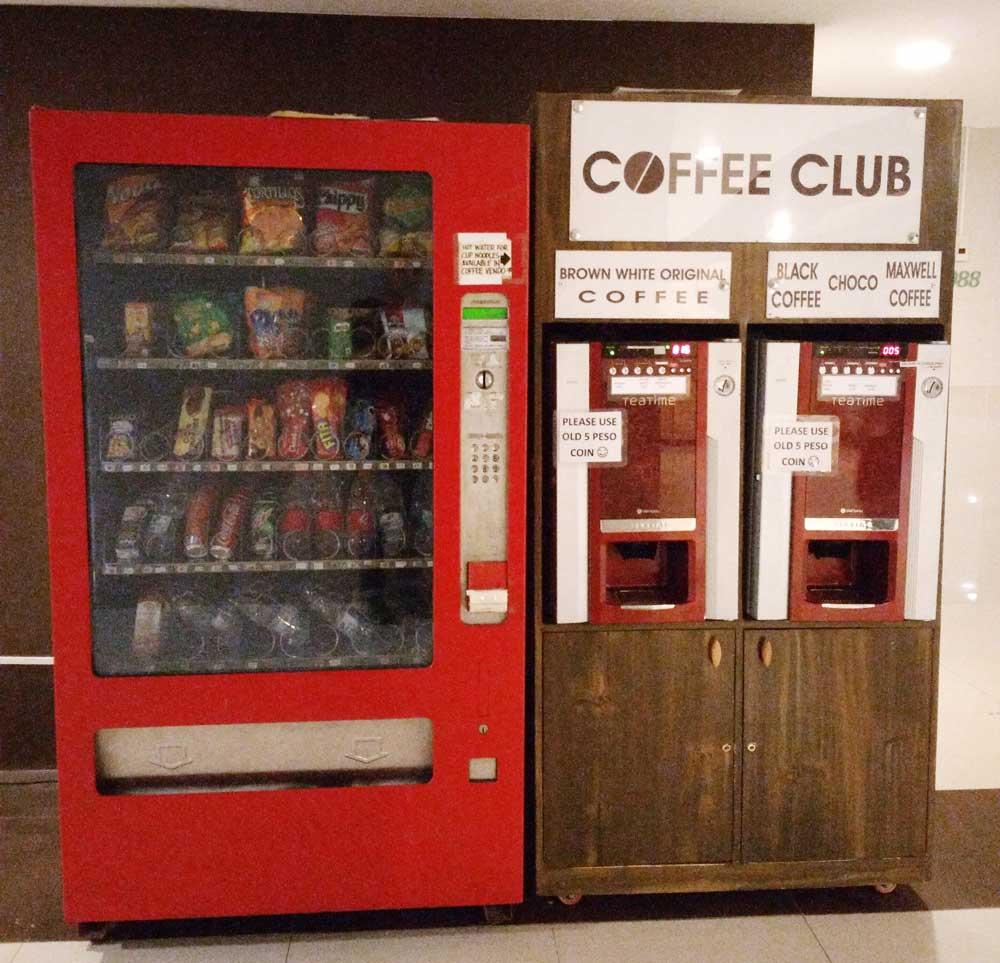 共用スペースの自動販売機