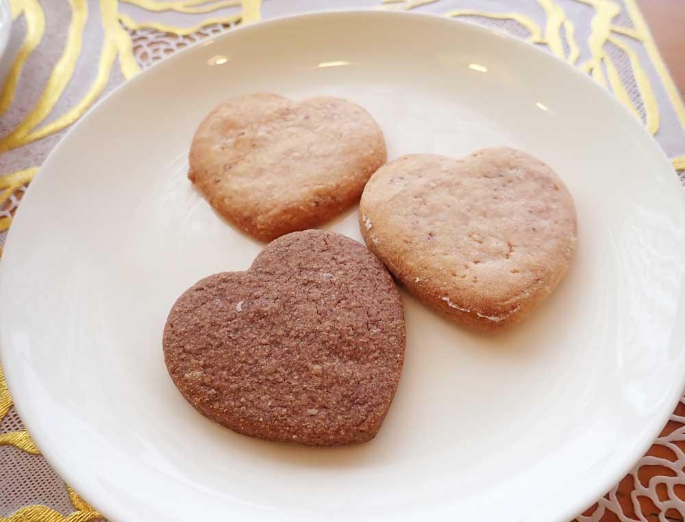 試作品のクッキー