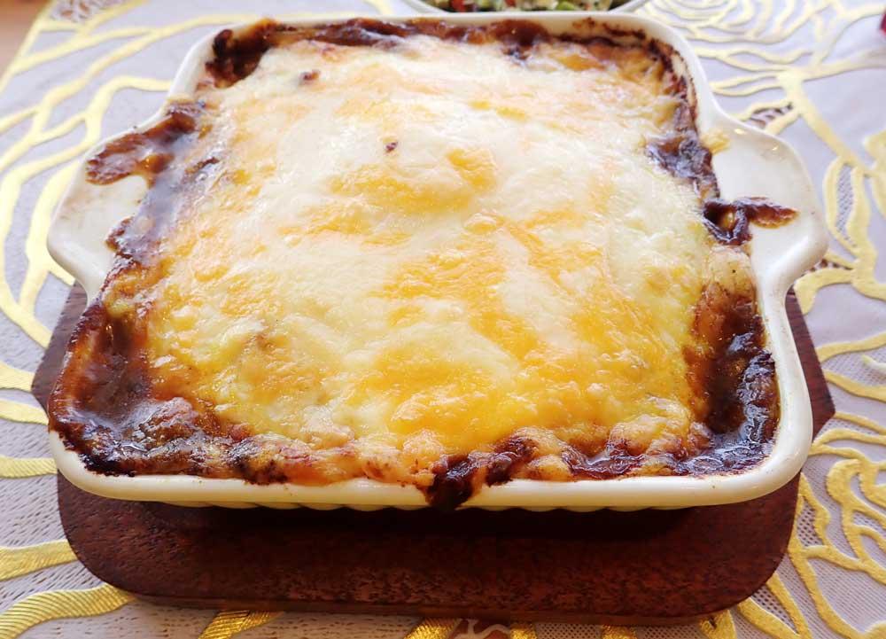 チーズたっぷりの焼きカレー
